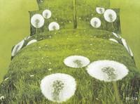 Hot Beautiful 100% Cotton 4pc Doona Duvet QUILT Cover Set bedding set Full / Queen/ King size 4pcs green white