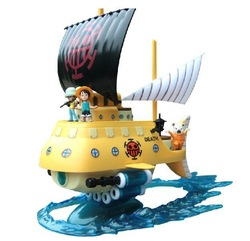 Japan Anime One Piece Trafalgar Law's Submarine Sunny pirate ship Display Model Toy(China (Mainland))
