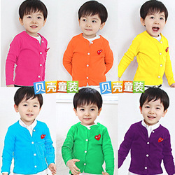 2013 spring heart candy boys clothing girls clothing baby cardigan wt-0679(China (Mainland))
