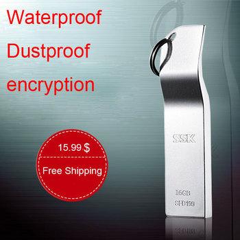 Free shipping 4g 8g 16g usb flash drive waterproof metal key