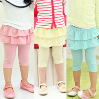 2013 summer laciness girls clothing baby child layered 5 legging pants kz-1619