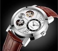 SKONE Mechanical Self-Wind Watch Skeleton Watches Men Luxury Brand Automatic Wristwatches Vintage Hours Atmos Male Clock WWM0042