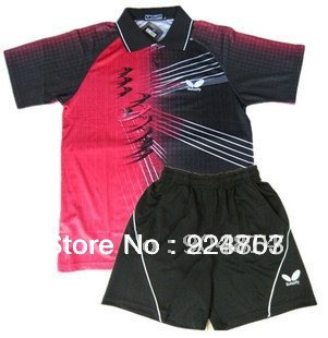 wholesale!2012 Butterfly Man's Badminton /table tennis shirt+shorts polo BF17