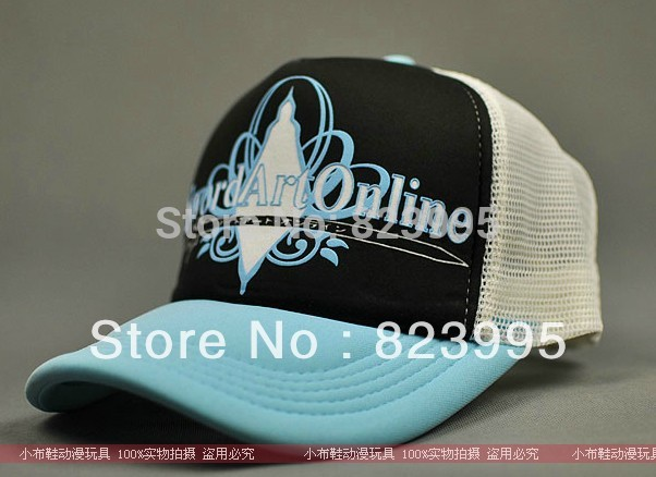 HOT SELL Sword Art Online Anime peripheral hat Baseball cap Can adjust the size 19 cm in diameter(China (Mainland))