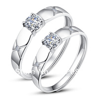 Fashion His Hers Rings Couples Promise Rings Ajustable Open Ring set  RK10