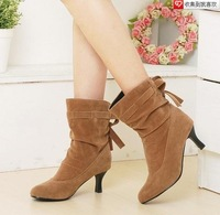 Plus size women's shoes 40 - 43 boots single boots martin spring and autumn female nubuck leather high of fine fashion with
