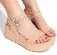 2013 small yards sandals 31 32 33 women's plus size shoes 40 - 43 hasp platform shoes
