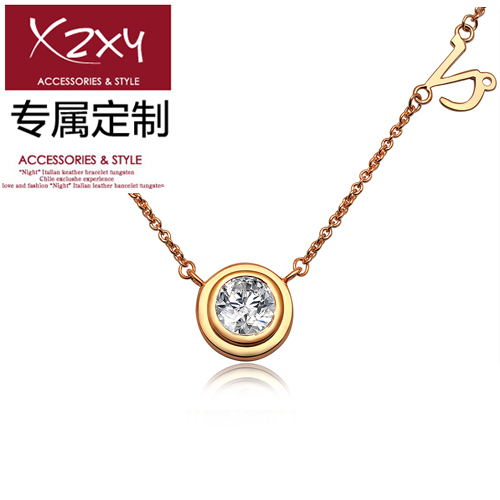 clover clover 925 pure silver customize necklace constellation necklace Women short design lettering accessories(China (Mainland))