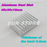 Free Shipping  2PCS/LOT IC Aluminum Radiator 45x35x18mm Aluminum Heat Sink  Electronic Module Heat Sink