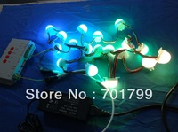 40pcs 30mm diameter milky cover 12V 3LEDs/pc ws2801 led pixel module+T-1000S sd card controller+12V/4A power adaptor