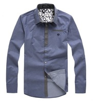 NEW arrived men's Casual Luxury Stylish Slim Long Sleeve shirts high quality2 size 53