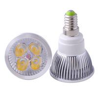 FREE SHIPING 1X CREE E14 4X3W 12W 9W Dlmmable LED Light Bulb Lamp Spotlight lighting 85-265V CE ROHS