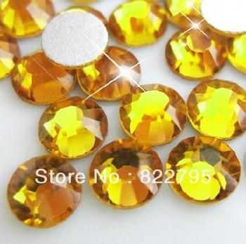 SS4 SS5 SS6 SS8 SS10 SS12 SS16 SS20 SS30 TOPAZ COLOR Crystal non hotfix Flat Back Nail Art Rhinestones free shipping