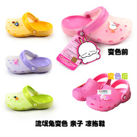Heterochrosis jelly child summer sandals hole shoes male female child beach slippers mules rascal rabbit