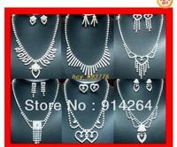 Wholesale 6Sets Noble Prom Mixed Rhinestone Necklaces   free shipping