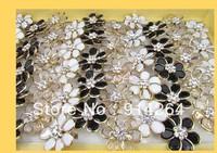 Wholesale36pcs NEW Prom Fashion Rhinestone Flower Rings  free shipping