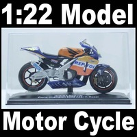NEW 1:22 Motor Cycle Model Motorcycle Ho nda Rc211v World Champion 2002 (Raider V. Rossi) Diecast Model In Box Bike
