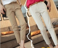 2013 summer women's casual pants female ankle length trousers female slim straight