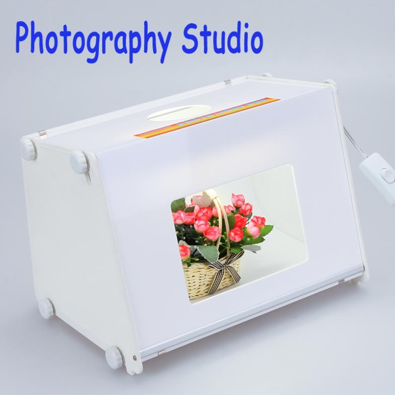 "Professional Portable SANOTO 12""x8"" Mini Photo Photography Studio Kit Light Box Softbox MK30 Free Shipping(China (Mainland))"