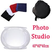 Photo Studio soft box Shooting Tent Softbox Cube Box,40 x 40cm/photo light tent +portable bag + 4 Backdrops Free shipping