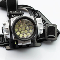 FREE SHIPPING 19 LED WATERPROOF ADJUSTABLE HEAD LAMP LIGHT TORCH HEADLIGHT CAMPING HIKING CAVING 50PCS/LOT #DT012