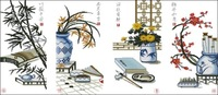 Dmc cross stitch kit herbal calligraphy and painting chinese style