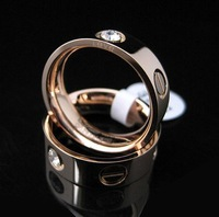 Men's rings  Love couple  rings titanium steel 18K rose gold  jewelry