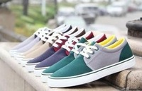 Free shipping 2013 hot-selling fashion men's canvas shoes male Low block decoration cotton-made shoes on sale size 39-43