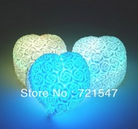 LED Battery Push button switch, Romantic Change color heart shaped atmosphere small night light,