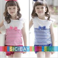 Promotion Fashion Girl Suits Kids Summer Striped Sets, Striped Vests + Harem Pants,5sets/lot K0491