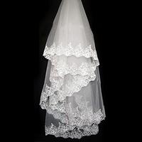 Colour bride laciness 3 meters vintage veil long trailing wedding dress veil
