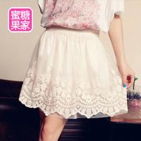 Sweet women's 2014 vintage princess  lace short skirts summer skirt WTP0068
