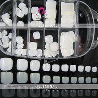 FREESHIPPING 100pcs/box White toe Nail Tips Professional Quality Toe False Nail Tips