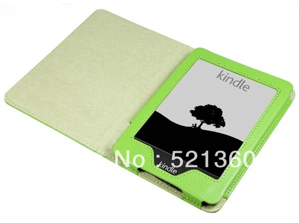 Factory Cheap Lichi Design Leather Case For Amazon Kindle Paperwhite Free Shipping(China (Mainland))