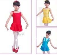 Free shopping child dance clothes leotard ballet dance skirt female child one-piece suspender skirt