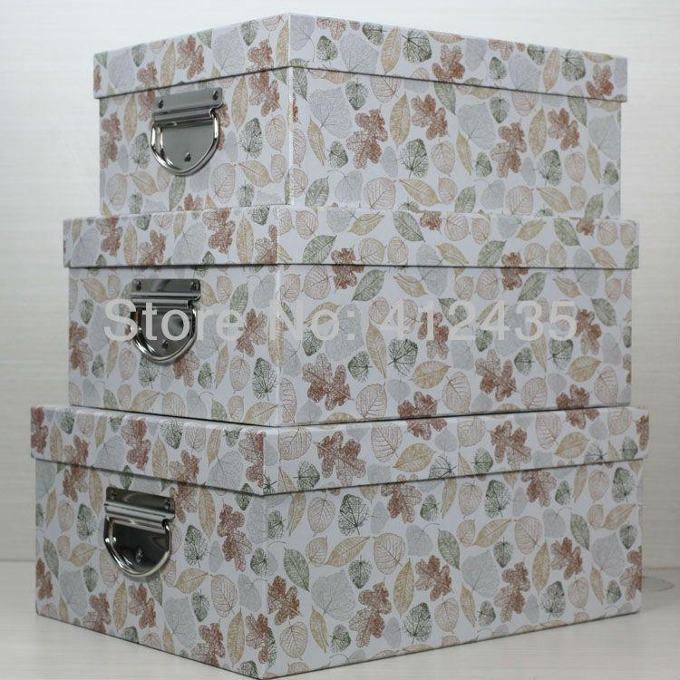 Free DHL shipping Home Storage Box 1 Set Clothes/ Toys/ Shoes/ Sundries/ Hard Paper Folding Boxes Set(China (Mainland))