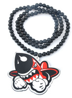 Acrylic necklace street trend hiphop hip-hop hiphop pendant fashion all-match fashion lanyards