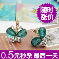 0104 accessories earrings resin wings butterfly bling gold stud earring women's