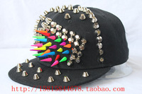 Punk rivet hiphop hip-hop hiphop baseball multicolour rivet hat a10