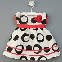 2013  fashion three flowers short-sleeve dot  dress princess dress 5pcs/lot