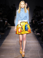 2013 summer van gogh painting mini skirts