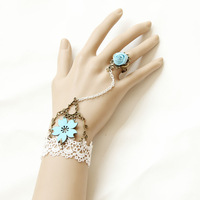 Free shipping /Japan PU leather sakura Bracelets  accessory   Vintage Gothic vampire fashion bracelet jewelery