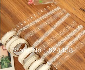 Free shipping DIY transparant lace tape decoration tape 10m/roll 50pcs/lot