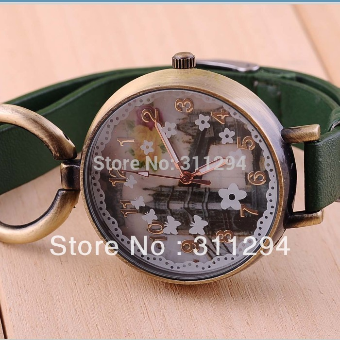 Free Shipping Classic Bronze Bracelet European Bridge Design Watch Woman Wrist Watch JW149(China (Mainland))