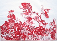 Free shipping Doll paper cutting handmade papercut paper cutting 40 60cm chinese style gift