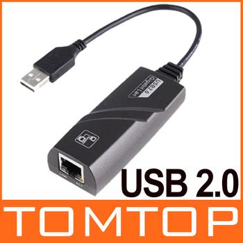 Mini LAN USB 2.0 RJ45 Ethernet Adapter 10 / 100 / 1000Mbps , Free  / Drop Shipping Wholesale