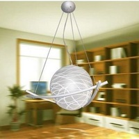 Casual glass ball garland ball modern brief pendant light