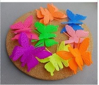 20pcs/lot Free shipping 2013 new design Assorted candy Color butterfly Hair clips,Hair Accessories