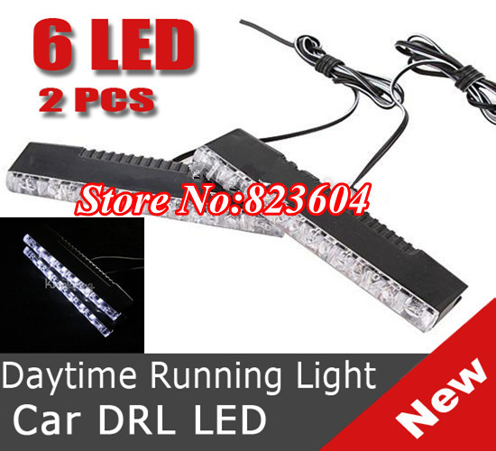 40 x 8 LED Fog Daytime Running Light DRL for BMW VW Car Auto Ford Front Head Lamp(China (Mainland))