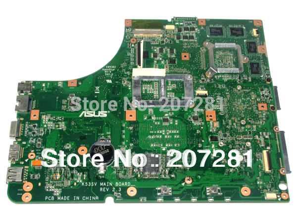 EMS Free shipping Laptop K53SV motherboard for ASUS K53SV K53SC K53J K53E K53SJ Rev 2.1 Mainboard 100% Tested GOOD(Hong Kong)